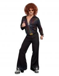 Luxe disco blouse met lovertjes voor mannen