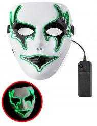 Groen lichtgevend spook masker voor volwassenen