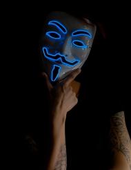 Blauw lichtgevend anoniem masker voor volwassenen