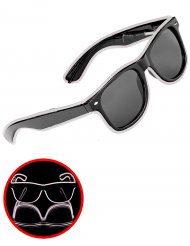 Lichtgevende witte jaren 50 bril voor volwassenen