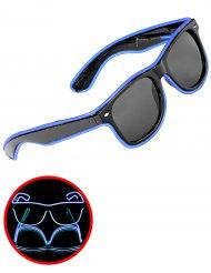 Blauwe lichtgevende jaren 50 bril voor volwassenen