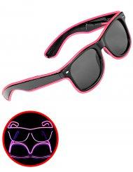 Lichtgevende roze jaren 50 bril voor volwassenen
