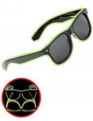 Groene lichtgevende jaren 50 bril voor volwassenen