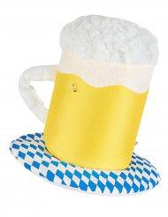 Lichtgevende bierpul hoed voor volwassenen