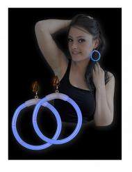 Blauwe lichtgevende oorbellen voor volwassenen
