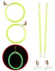Groene lichtgevende oorbellen voor volwassenen