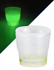 Lichtgevend groen shotjes glas