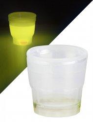 Lichtgevend geel shotglas