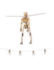 Halloween gele skelet slinger