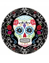 10 bordjes Dia de los Muertos schedel