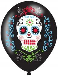 6 latex Día de los Muertos ballonnen