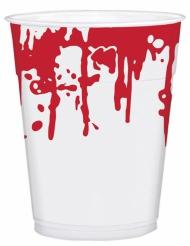 25 plastic bloedspetter bekers