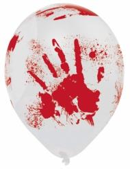 6 bloederige Halloween ballonnen
