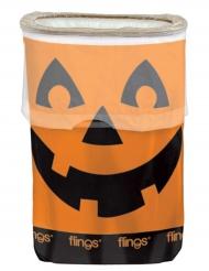Halloween pompoen prullenbak