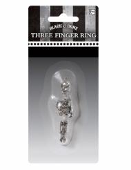 Skelet ring voor drie vingers voor volwassenen