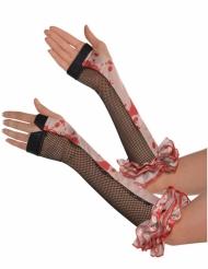 Bloederige vingerloze handschoenen voor volwassenen