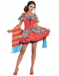 Kleurrijk doodskop Dia de los Muertos kostuum voor vrouwen