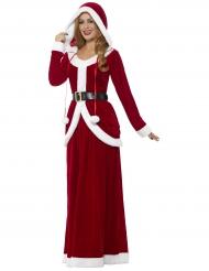 Luxe kerstjurk met capuchon voor vrouwen