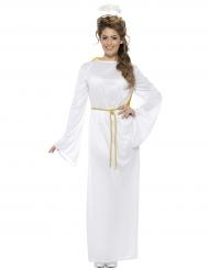 Witte engel kerst kostuum voor volwassenen