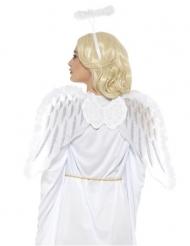 Witte engel set met vleugels en halo voor volwassenen