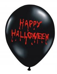 6 bebloede Happy Halloween ballonnen