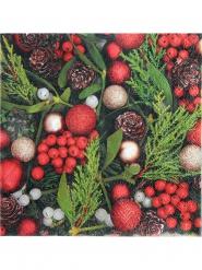 20 papieren kerst hulst servetten