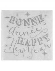 20 papieren Nieuwjaar servetten