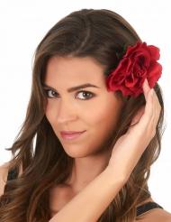 Rode roos haarspeld voor volwassenen