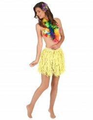 Korte Hawaiiaanse papier rok voor volwassenen