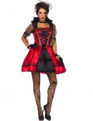 Sexy gothic vampieren kostuum voor dames