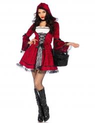 Gothic Roodkapje kostuum voor vrouwen