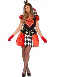 Miss harten koningin kostuum voor vrouwen