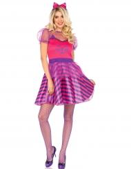 Roze en paars katten kostuum voor vrouwen