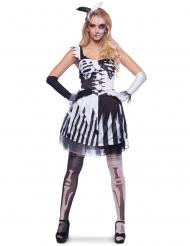 Zwart en wit clown skelet kostuum voor vrouwen