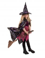 Heksencape met holografische patronen voor meisjes