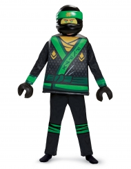 Deluxe zwart groen Lloyd Ninjago™ Lego® kostuum voor kinderen