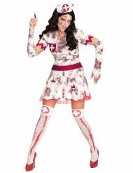 Gehavende zombie verpleegster outfit voor vrouwen