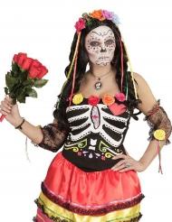 Veelkleurige Dia de los Muertos haarband
