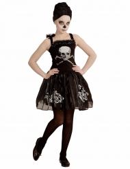 Zwart skelet ballerina kostuum voor meisjes