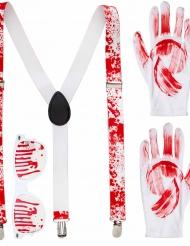 Bloederige accessoire set voor volwassenen