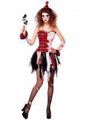 Enge harlekijn kostuum voor vrouwen