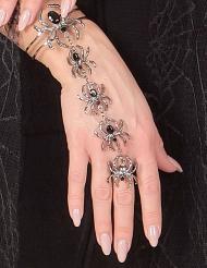 Spinnen armband en ring voor vrouwen