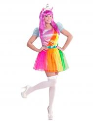 Miss rainbow eenhoorn kostuum voor vrouwen