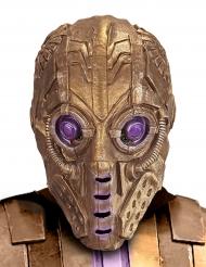 Goudkleurig robot masker voor volwassenen