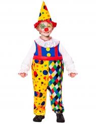 Geel en kleurrijk clown kostuum voor jongens
