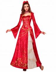 Rood Renaissance prinses kostuum voor vrouwen