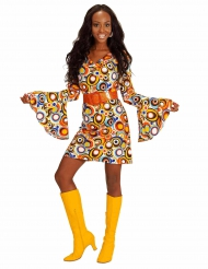 Groovy bubbels jaren 70 kostuum voor vrouwen