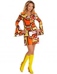 Groovy jaren 70 geometrisch kostuum voor vrouwen
