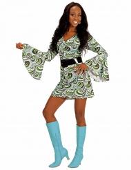 Jaren 70 groovy kostuum voor vrouwen