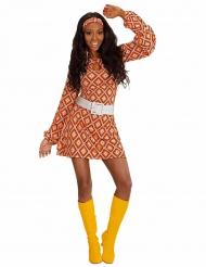 Groovy jaren 70 retro outfit voor vrouwen